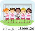 サッカー ドラマー 子供のイラスト 13999120