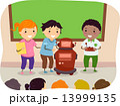 Stickman Kids Present Robot 13999135