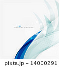 Blue business corporate wave line background  14000291