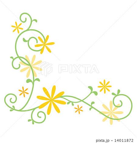 花の飾り罫のイラスト素材 14011872 Pixta