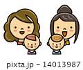 親子 赤ちゃん ママのイラスト 14013987