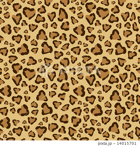 ハート型のヒョウ柄パターン 14015701
