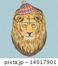 ライオン ヒップスター ベクトルのイラスト 14017901