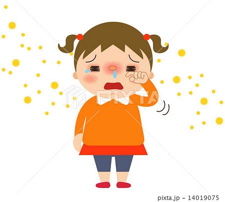 女の子_目がかゆい 14019075