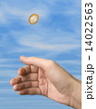 コイン 手 選択の写真 14022563