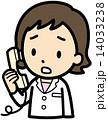 女医 ベクター 電話のイラスト 14033238