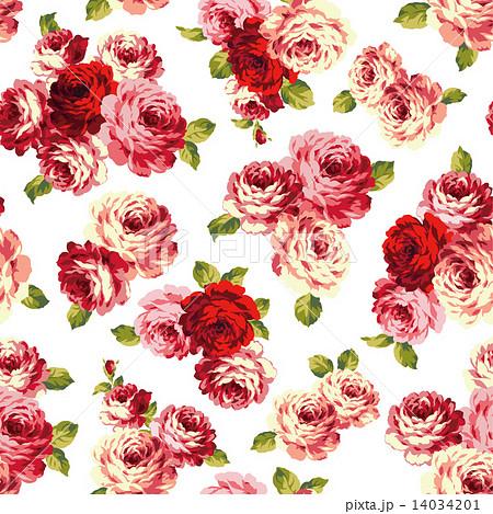 バラのパターンのイラスト素材
