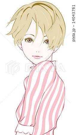 女性 春服のイラスト素材 14043761 Pixta