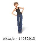 ボーイッシュなファッションの女性 3DCG イラスト素材 14052913