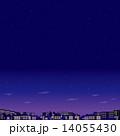 街並み 夜景 星空のイラスト 14055430