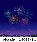 街並み ベクター 夜景のイラスト 14055431