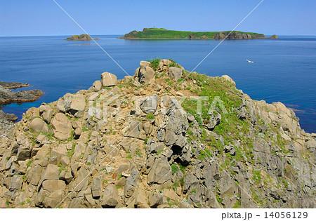 スコトン岬からの海驢島の眺望の...