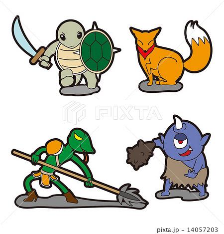 キャラクターイラストモンスター2のイラスト素材 14057203 Pixta