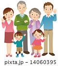 3世代家族 6人 全身 14060395