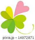 春_ハートの四つ葉のクローバー 14072871