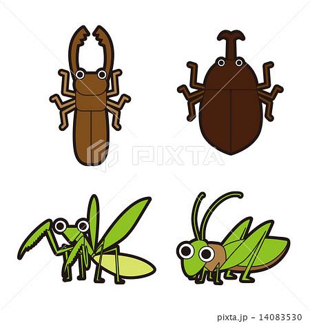 季節行事のイラスト昆虫のイラスト素材 14083530 Pixta