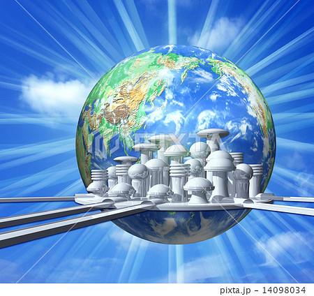 地球の未来都市のイラスト素材 [...