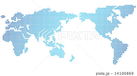 World map of dots Vector 14100869