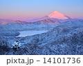 遠景富士の朝焼け 14101736