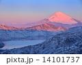 遠景富士の朝焼け 14101737