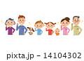 家族で歯磨き 14104302