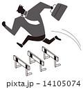 一気にハードルを跳ぶビジネスマン 14105074