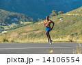 ジョグ 走る ランナーの写真 14106554