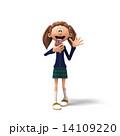 スマートフォン 学校 女性のイラスト 14109220