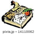筆書き 日本食 弁当のイラスト 14110062
