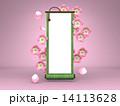 掛け軸 巻物 桜のイラスト 14113628