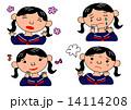 女の子の喜怒哀楽の表情 14114208