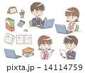 事務用品 文房具 電話のイラスト 14114759
