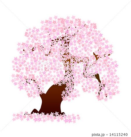 桜 桜の木 花のイラスト素材 14115240 Pixta
