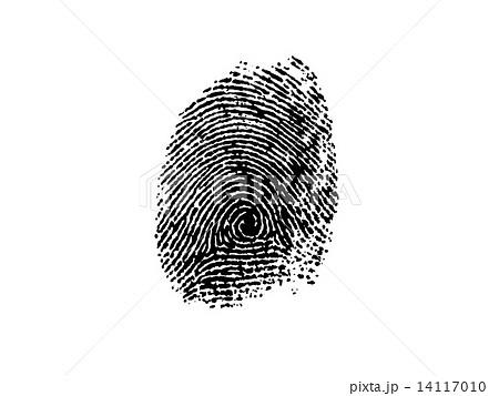 指紋-黒のイラスト素材 [141170...