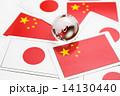 日本と中国の旗 14130440