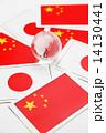 日本国旗と中国国旗 14130441