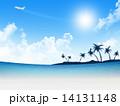 青空 海 ビーチのイラスト 14131148