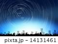 日周運動 街並み 星のイラスト 14131461