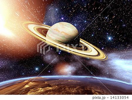ドーナツ星雲と宇宙のイラスト素材 [14133054] , PIXTA