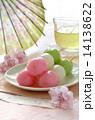 緑茶 団子 三色だんごの写真 14138622