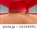 Gymnasium room with red wall 14144091