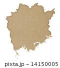 岡山県地図 14150005