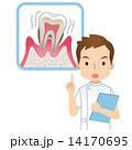 注意する歯科医 歯周病 14170695