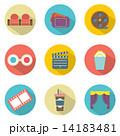 Flat Design Cinema Icons 14183481