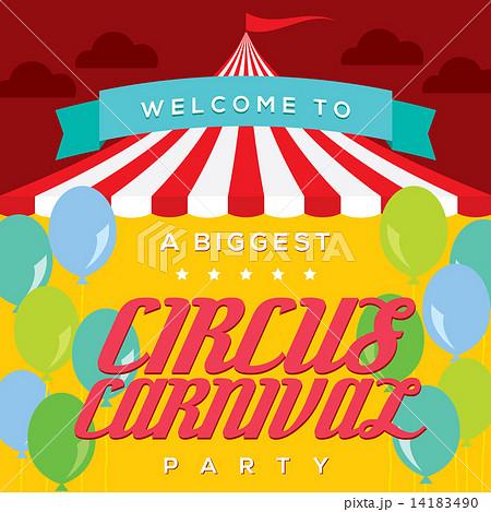 circus carnival poster templateのイラスト素材 14183490 pixta