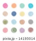 水彩画の円形ボタンセット 14193014