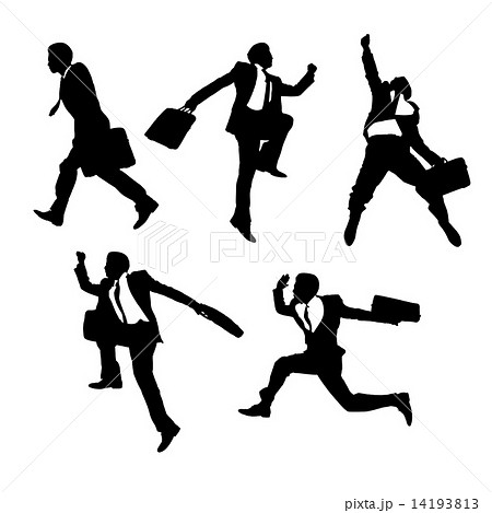 jump and running Businessmen 14193813