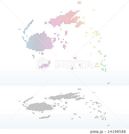 Map of Republic of Fiji with Dot Patternのイラスト素材 [14198588] - PIXTA