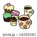 カップケーキ ベクター スイーツのイラスト 14200261