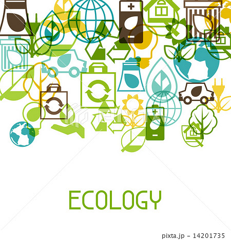 Ecology background with environment icons. 14201735